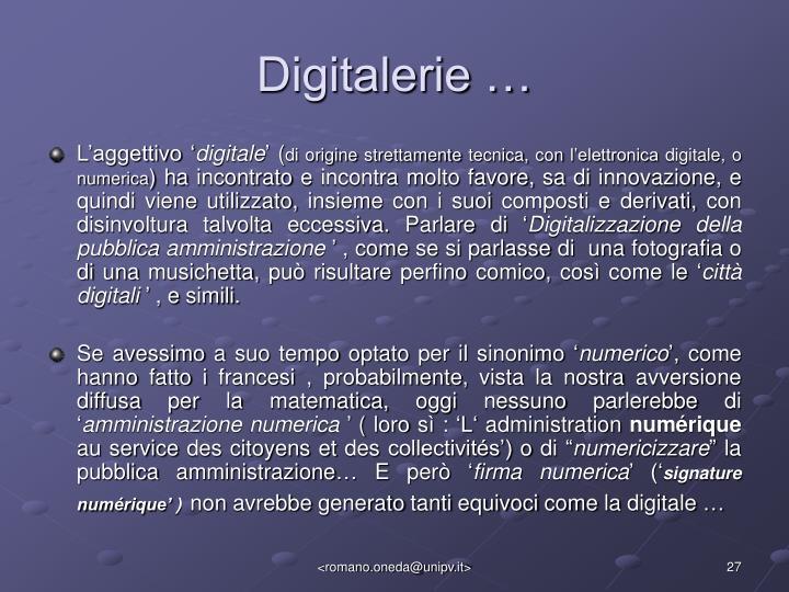 Digitalerie …