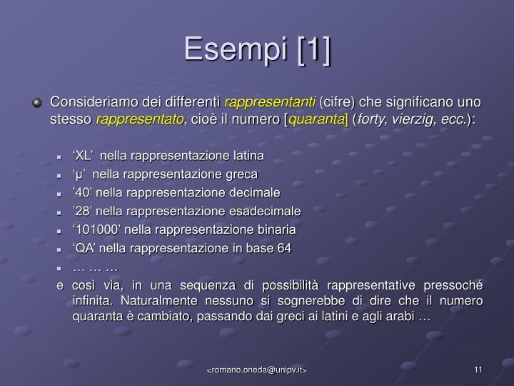Esempi [1]