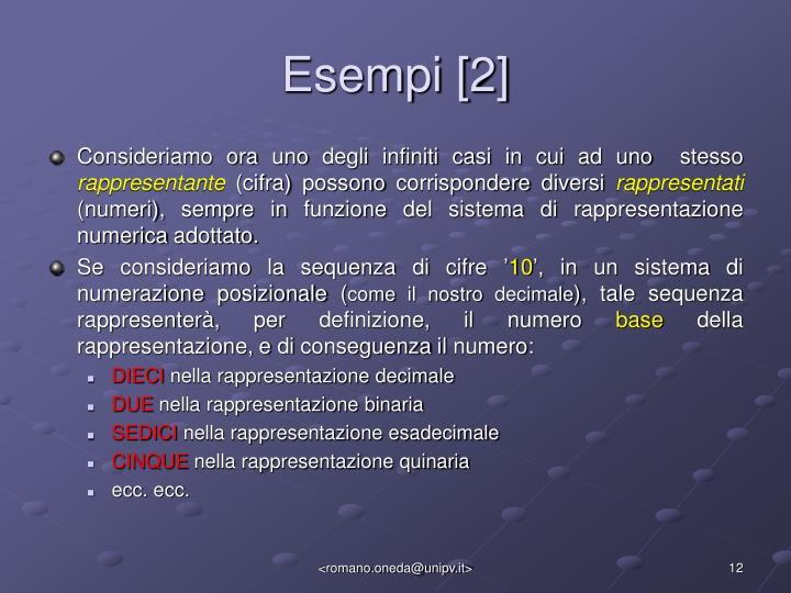 Esempi [2]