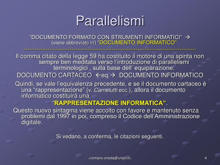 Parallelismi