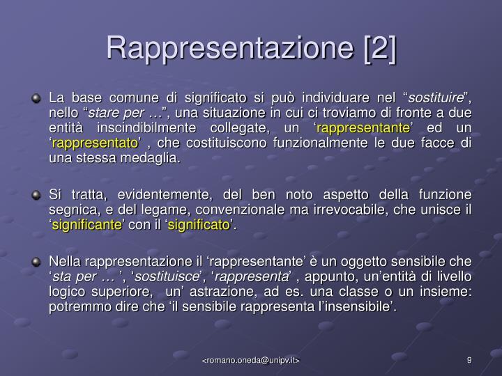 Rappresentazione [2]