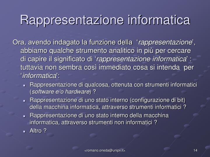 Rappresentazione informatica