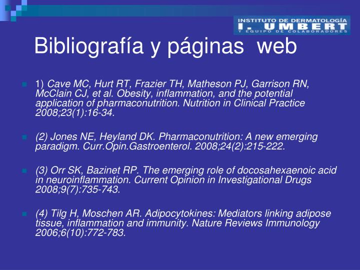 Bibliografía y páginas  web