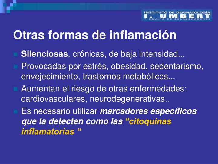 Otras formas de inflamación