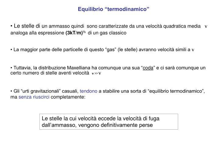 "Equilibrio ""termodinamico"""