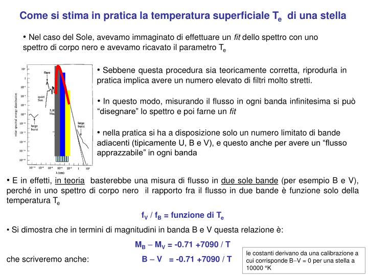 Come si stima in pratica la temperatura superficiale T
