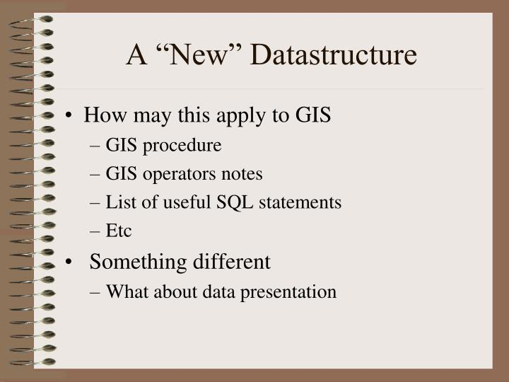 "A ""New"" Datastructure"