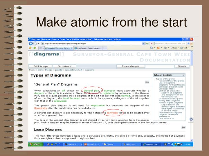 Make atomic from the start