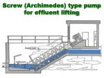 screw archimedes type pump for effluent lifting1