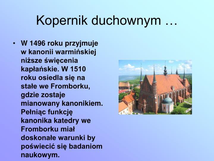 Kopernik duchownym …