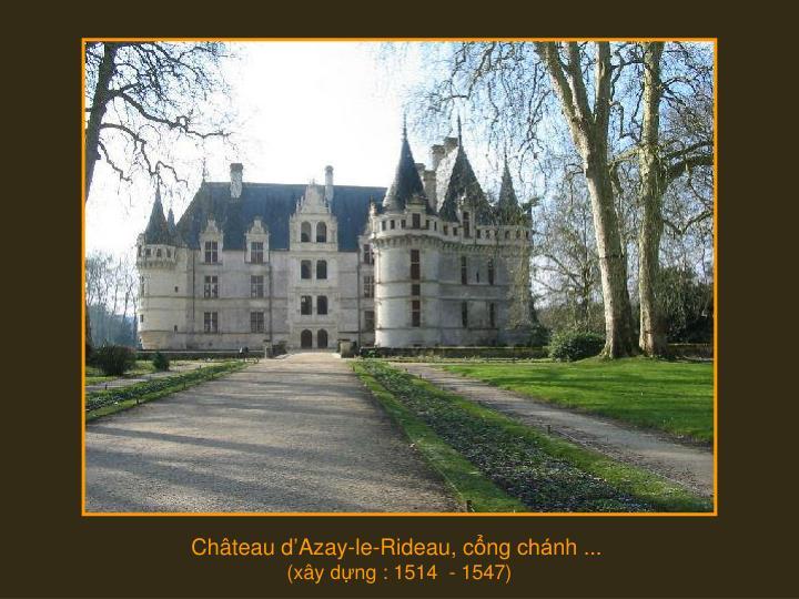 Château d'Azay-le-Rideau, c