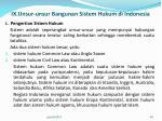 ix unsur unsur bangunan sistem hukum di indonesia