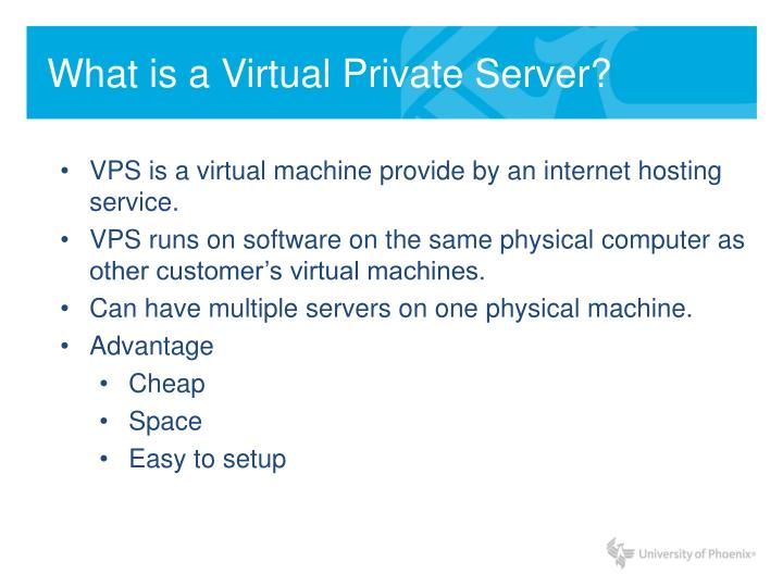 What is a Virtual Private Server?