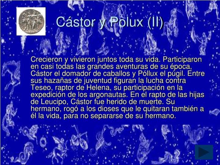 Cástor y Polux (II)