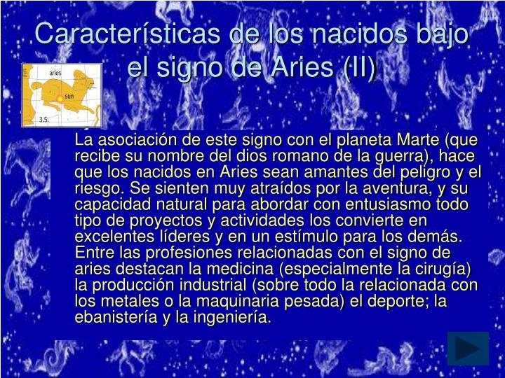 Características de los nacidos bajo el signo de Aries (II)