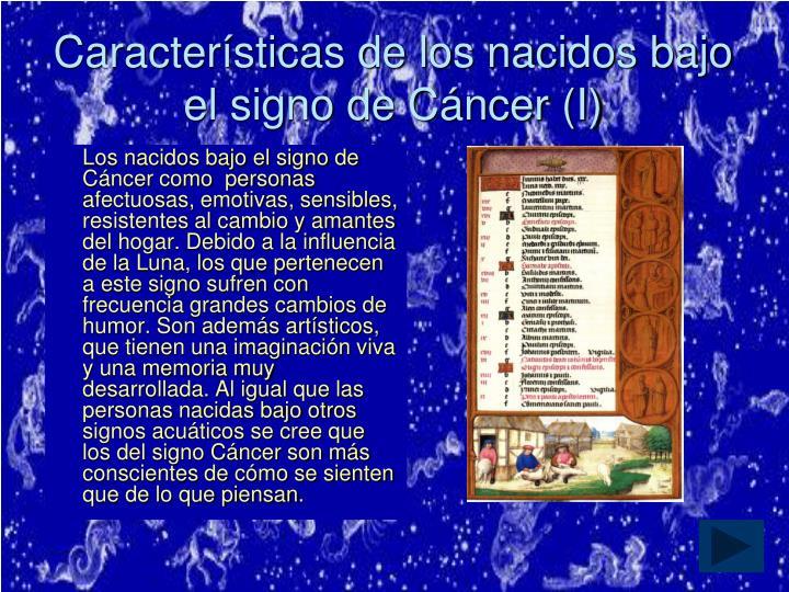 Características de los nacidos bajo el signo de Cáncer (I)