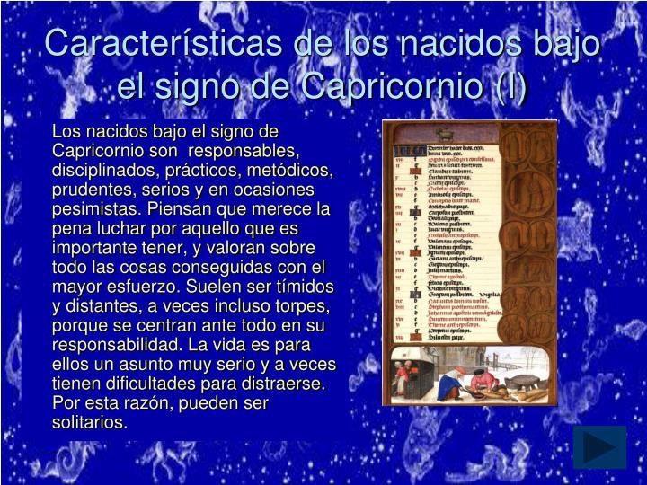 Características de los nacidos bajo el signo de Capricornio (I)