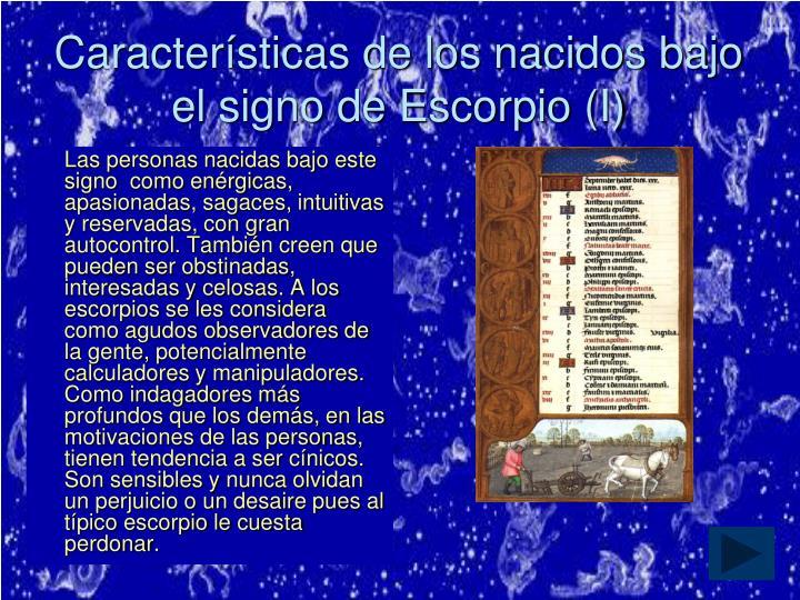 Características de los nacidos bajo el signo de Escorpio (I)