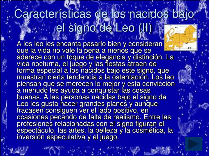 Características de los nacidos bajo el signo de Leo (II)