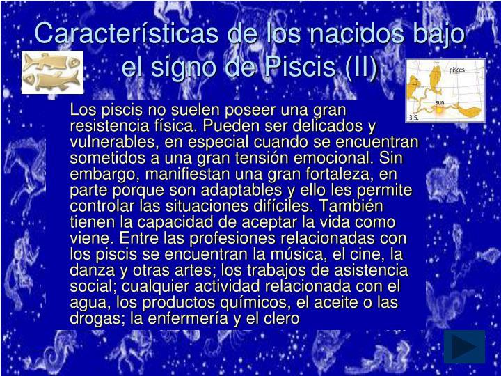 Características de los nacidos bajo el signo de Piscis (II)