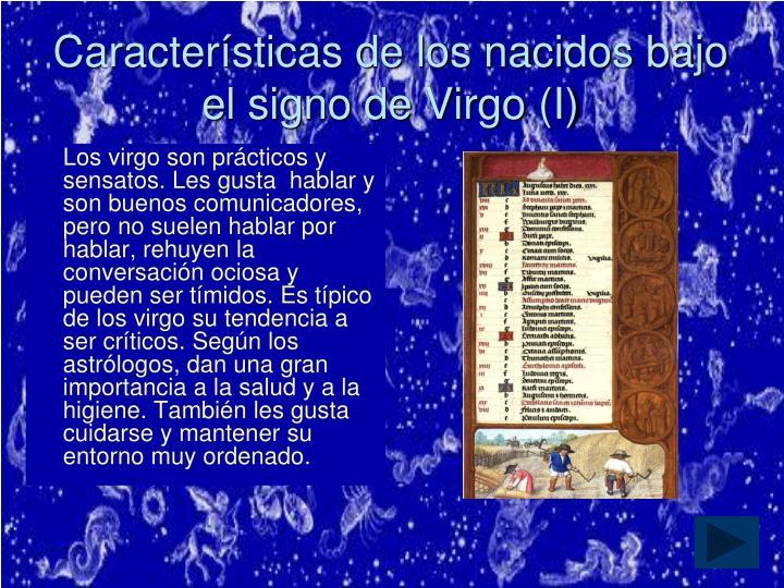 Características de los nacidos bajo el signo de Virgo (I)