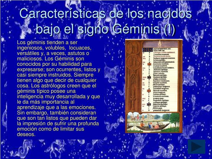 Características de los nacidos bajo el signo Géminis (I)