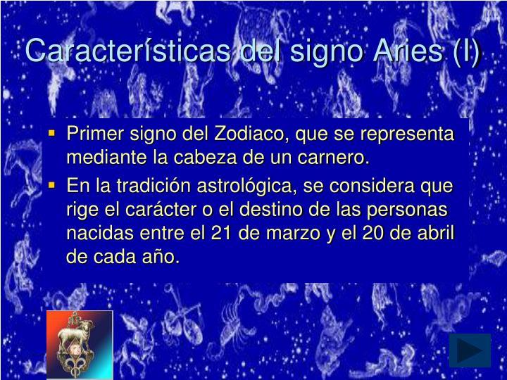 Características del signo Aries (I)