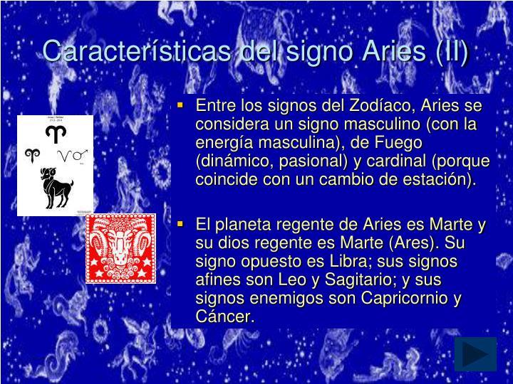 Características del signo Aries (II)