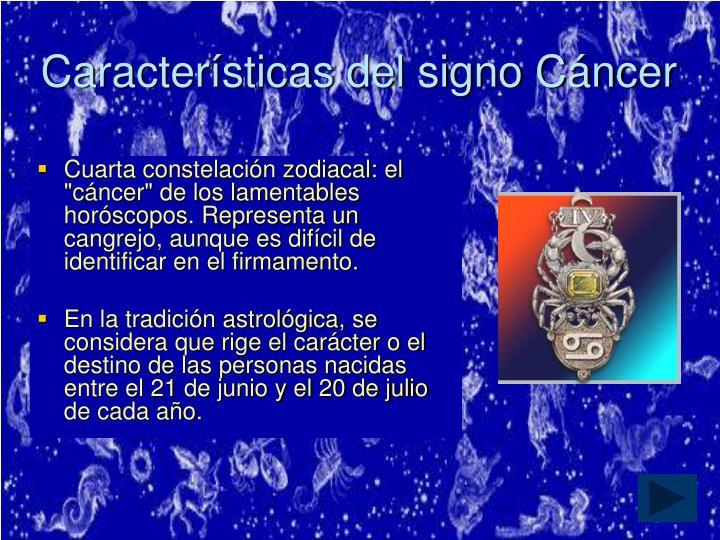 Características del signo Cáncer