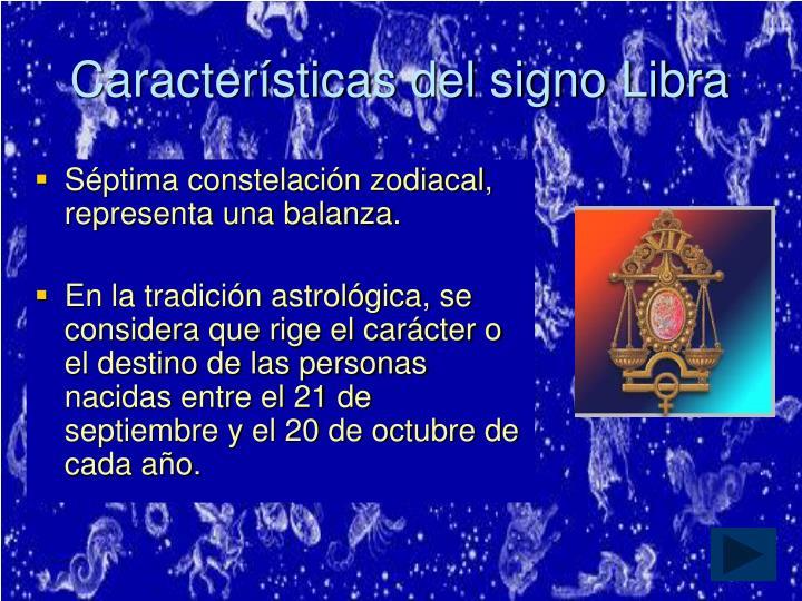 Características del signo Libra