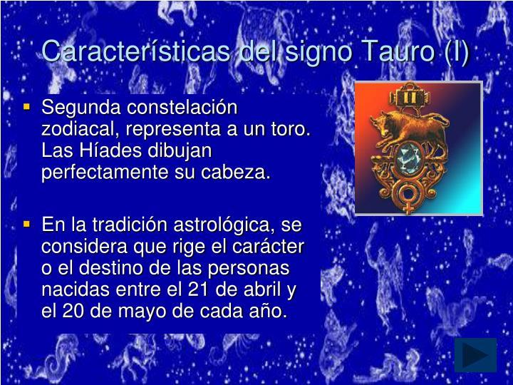 Características del signo Tauro (I)