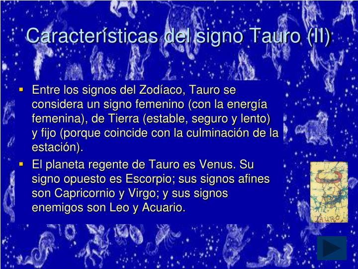 Características del signo Tauro (II)