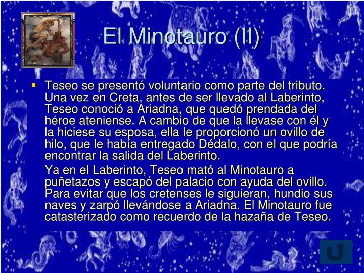 El Minotauro (II)