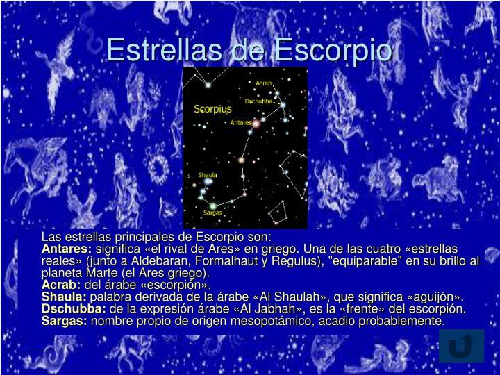 Estrellas de Escorpio