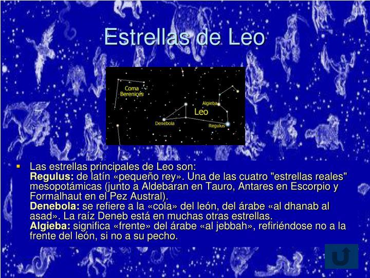 Estrellas de Leo