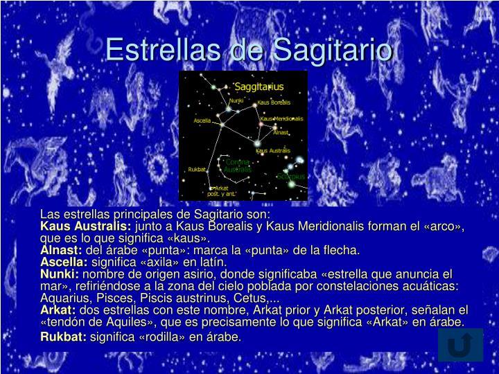 Estrellas de Sagitario