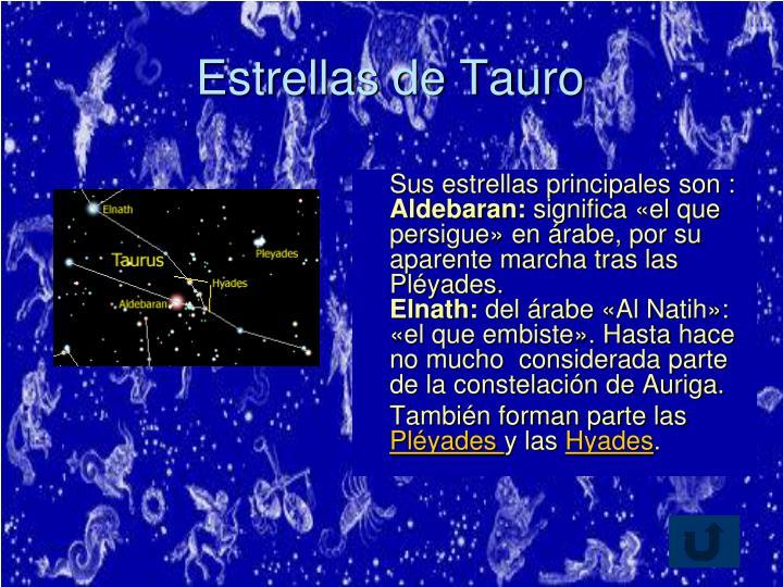 Estrellas de Tauro