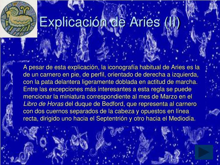 Explicación de Aries (II)