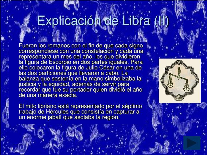 Explicación de Libra (II)