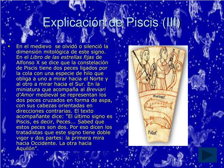 Explicación de Piscis (III)
