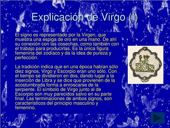 Explicación de Virgo (I)