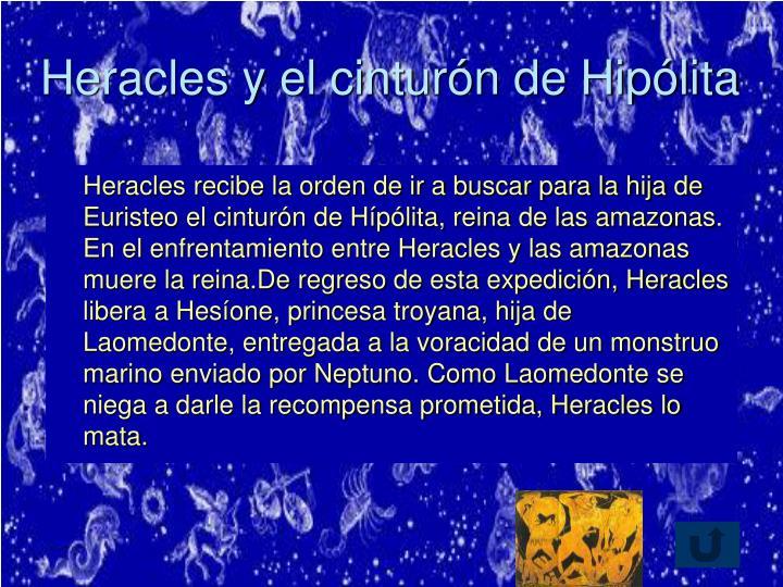 Heracles y el cinturón de Hipólita