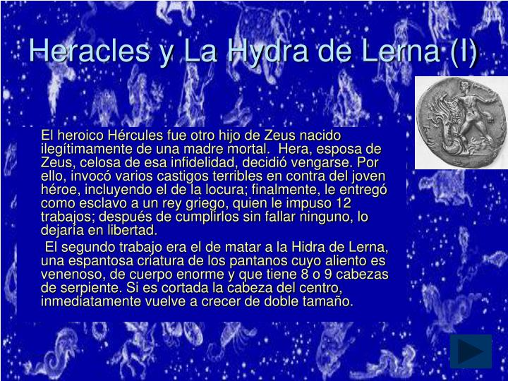 Heracles y La Hydra de Lerna (I)