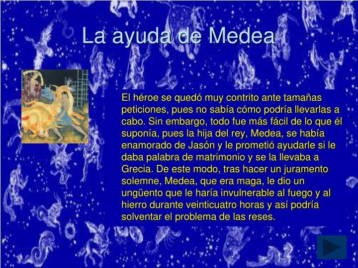 La ayuda de Medea