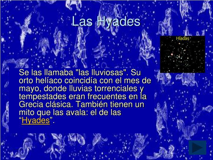Las Hyades