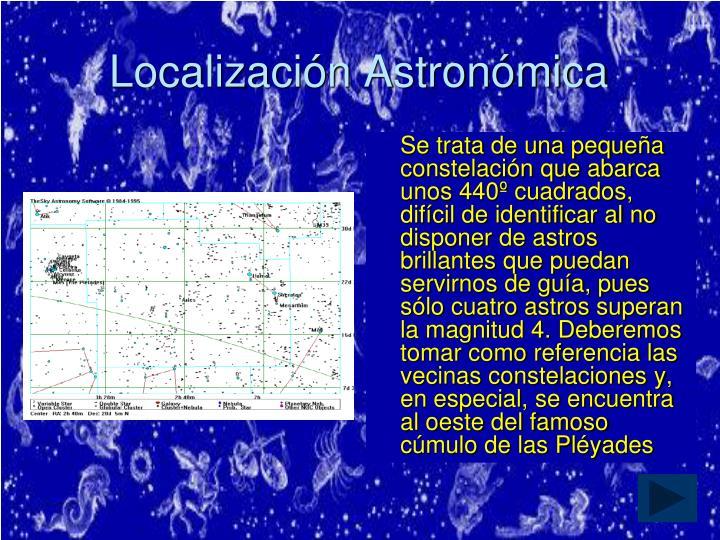 Localización Astronómica