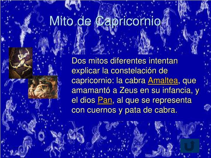 Mito de Capricornio