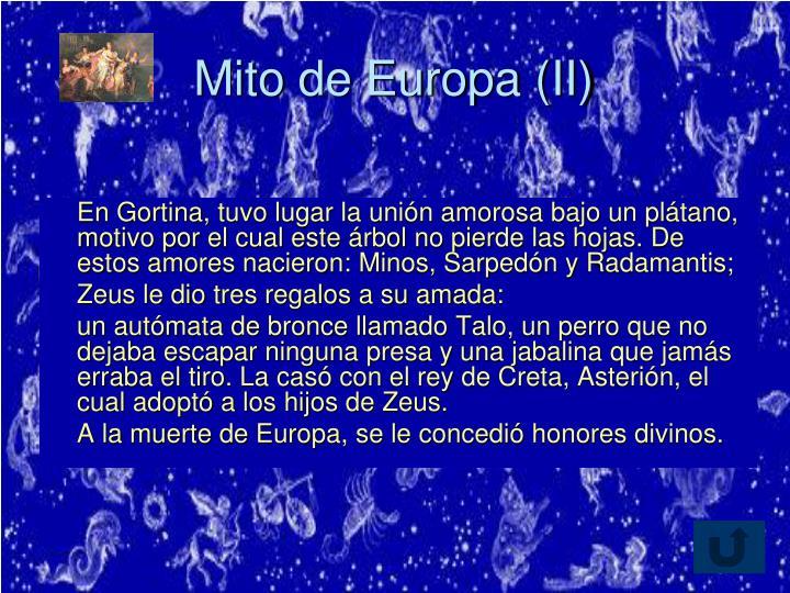 Mito de Europa (II)