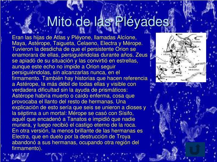 Mito de las Pléyades