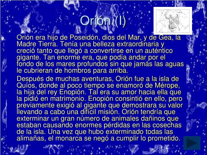 Orión (I)